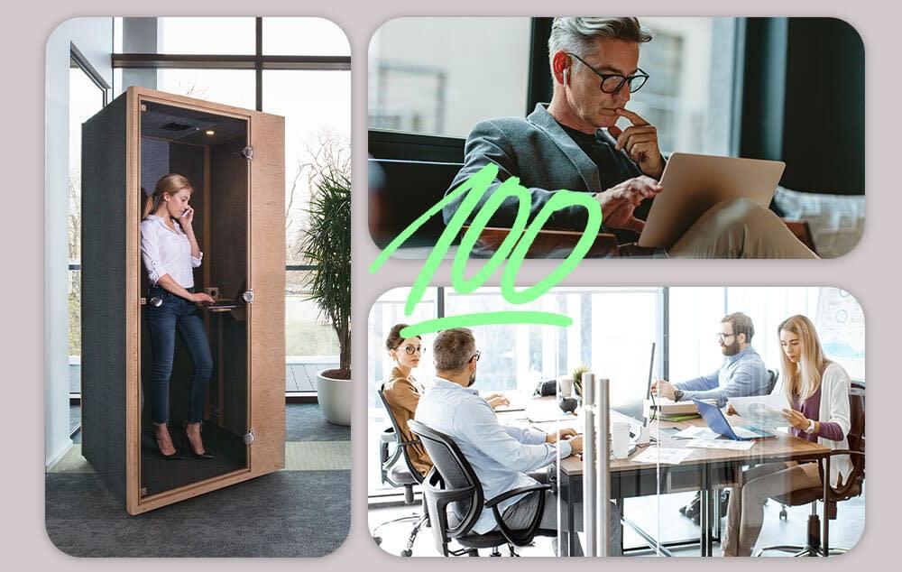 Hybride Arbeit - Die neuen Anforderungen an das Büro - Konzentriertes Arbeiten