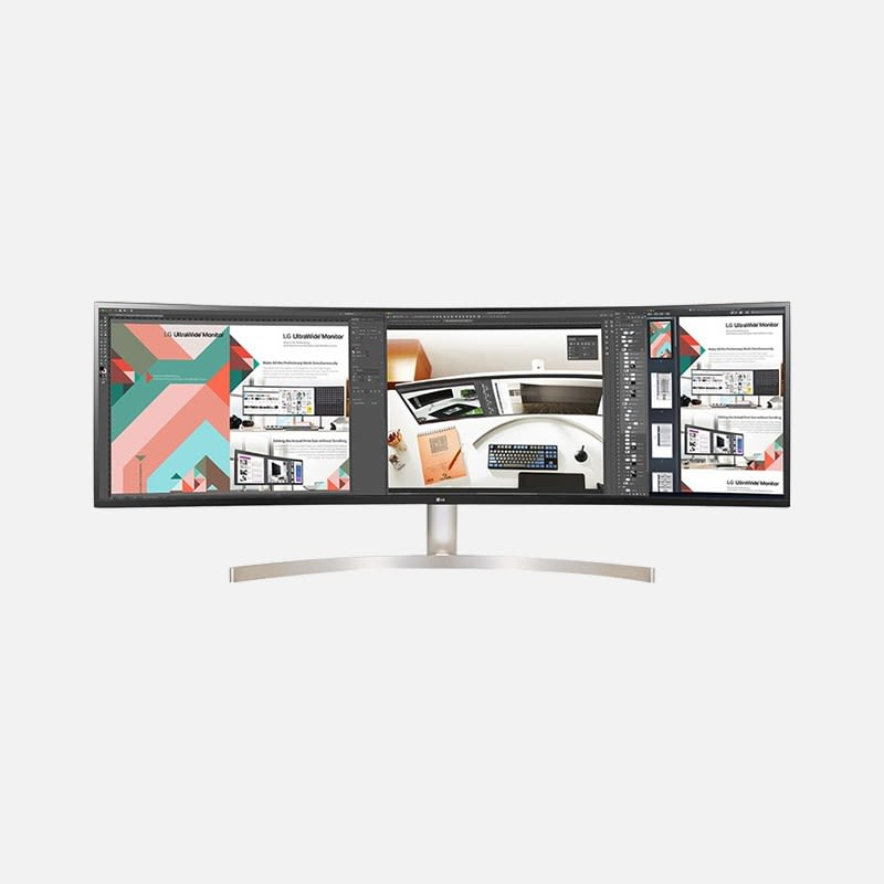 LG 49WL95C-WE 49 Zoll UltraWide QHD Curved Monitor mieten