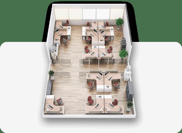 Office as a Service - Büroplanung