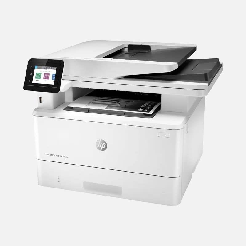 HP LaserJet Pro MFP M428fdn Drucker mieten - Seitenansicht