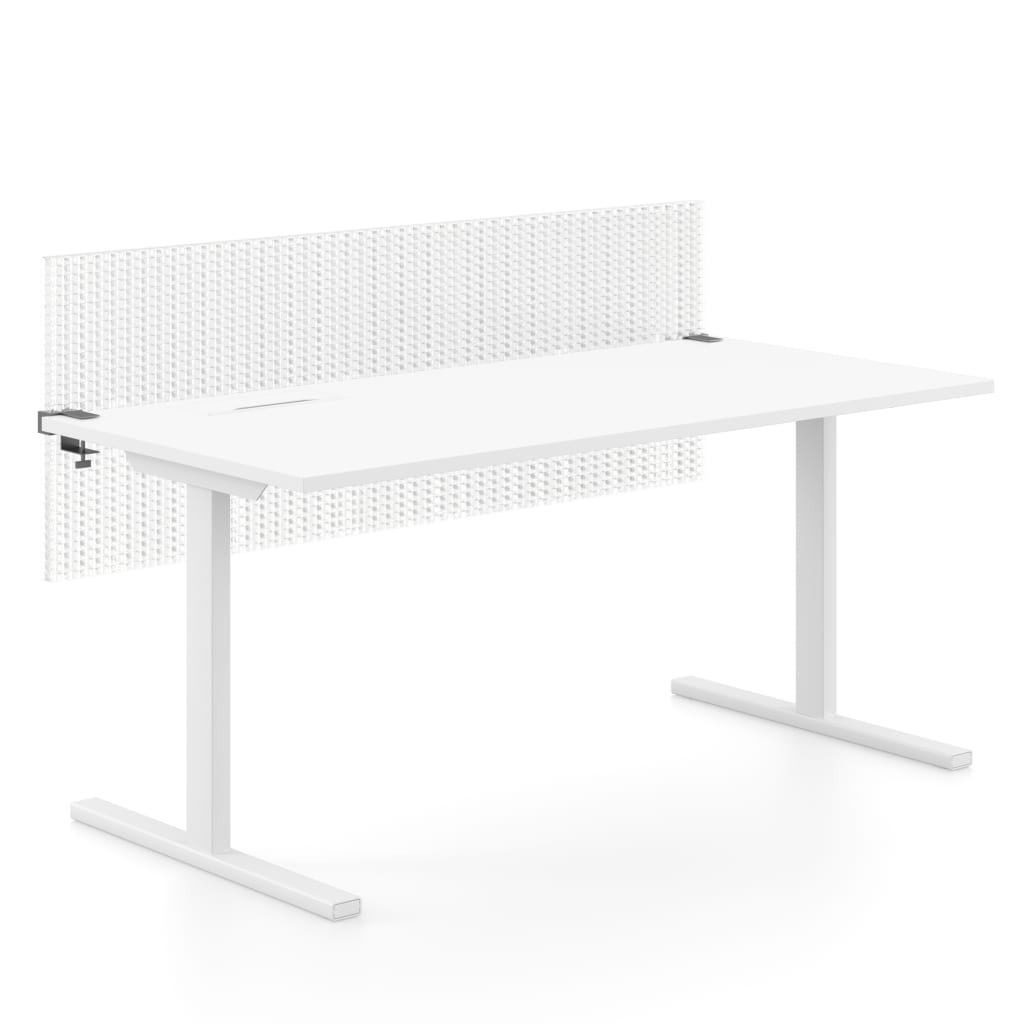 Transparente Tischtrennwand aus Kunststoff
