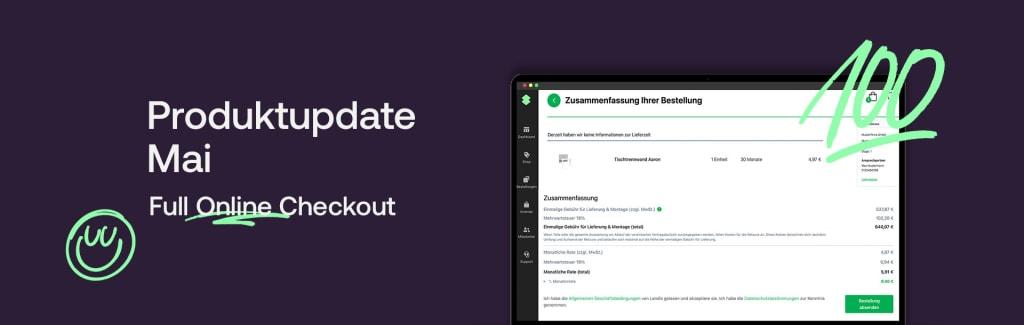 Produktupdate Mai - Full Online Checkout