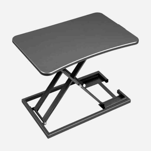 Höhenverstellbarer Schreibtischaufsatz Schwarz clever mieten statt kaufen