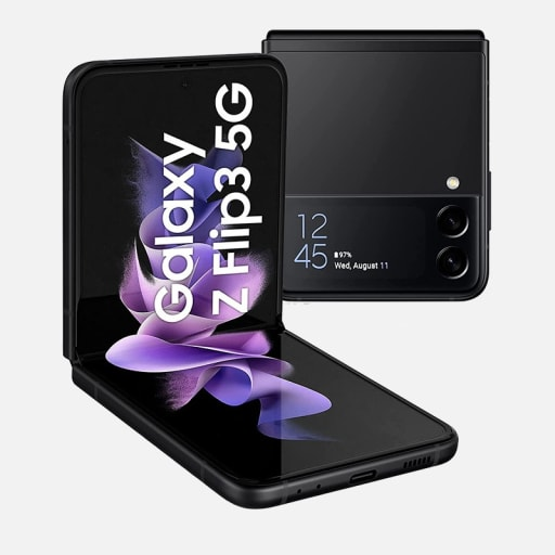 Samsung Galaxy Z Flip 3 5G in Schwarz mieten