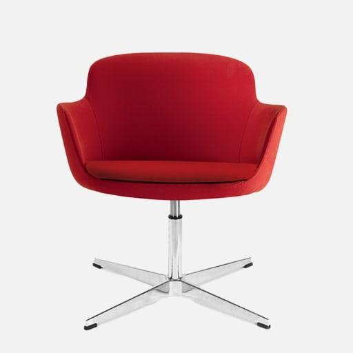 Lounge Chair Kimberly Rot clever mieten statt kaufen