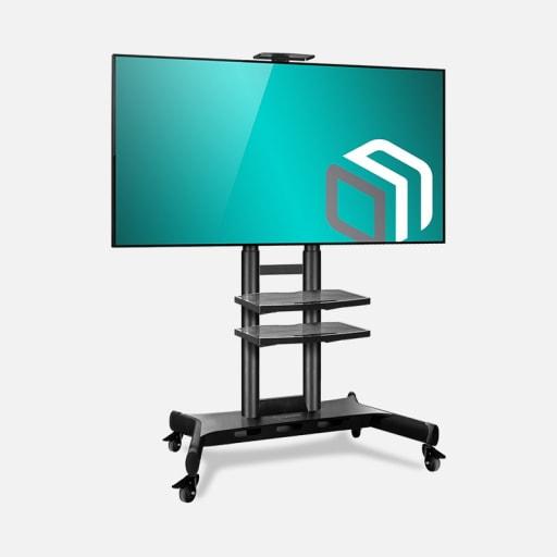Premium mobiler TV-Ständer mieten - Schwarz