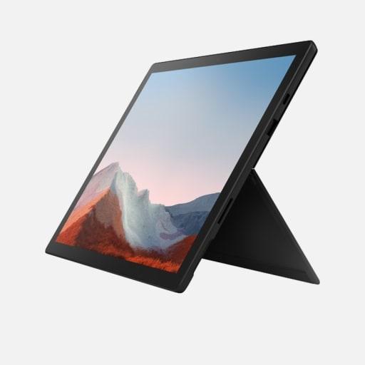 Microsoft Surface Pro 7+ Tablet Schwarz Frontansicht mieten