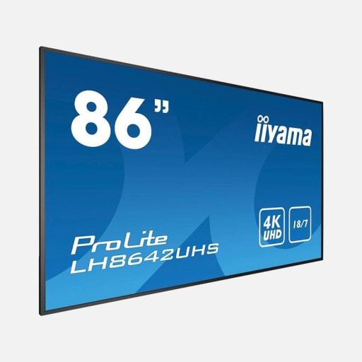 iiyama LH8642UHS-B3 86 Zoll 4K UHD IPS Digital Signage Monitor mieten