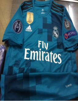9f5a45aec Jual Jersey Real Madrid 3RD FULL Patch UCL 2017 2018