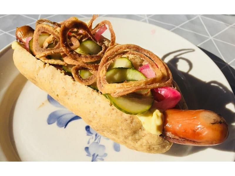Stegt hotdog