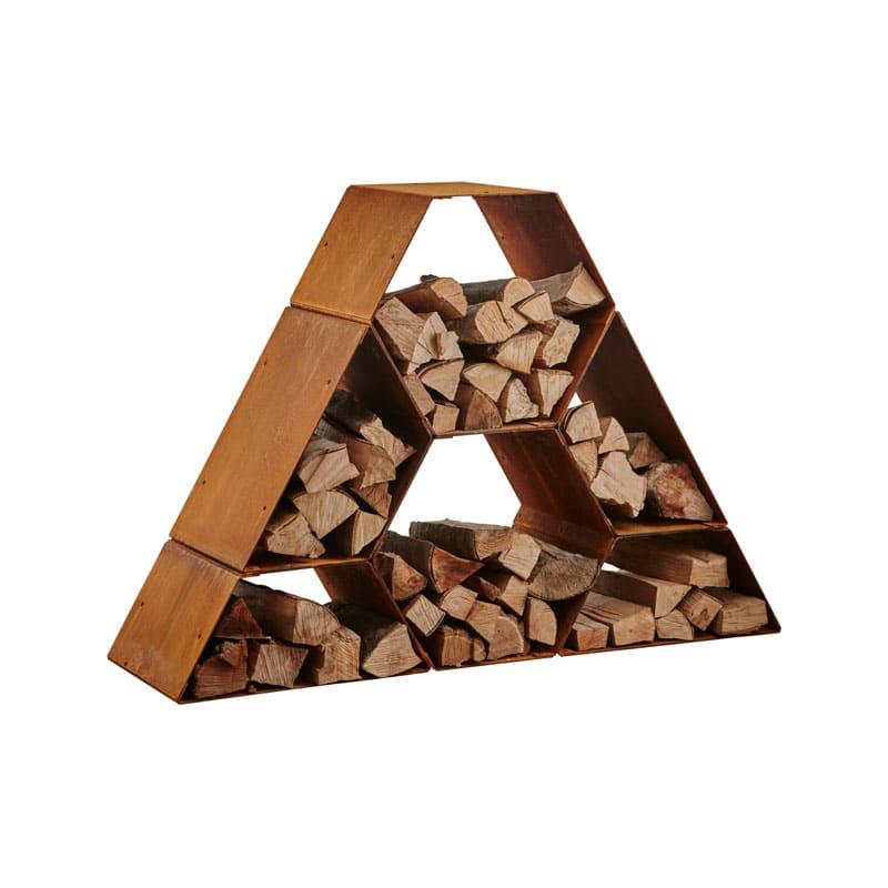 Hexagon trapez brændeholder