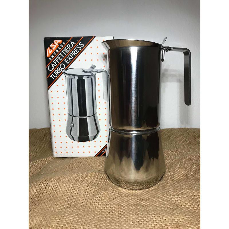 Espressokande 6 kopper Stål fra Ilsa
