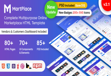 MartPlace - Multipurpose Online Marketplace HTML Template with Dashboard