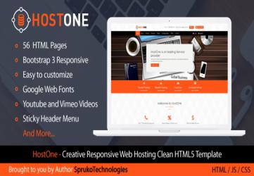 HostOne - Web Hosting HTML Creative Responsive Clean Template
