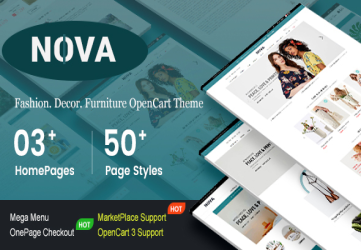 Nova - Responsive Fashion & Furniture OpenCart 3 Theme with 3 Mobile Layouts Included
