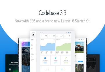 Codebase - Bootstrap 4 Admin Dashboard Template & Laravel 7 Starter Kit