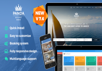 Panda Resort 7 - CMS for Single Hotel - Booking System