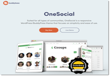 BuddyBoss OneSocial v1.4.7 - Premium Template for BuddyPress