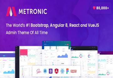 Metronic - Bootstrap 4 HTML, React, Angular 8 & VueJS Admin Dashboard Theme