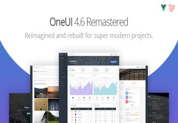 OneUI - Bootstrap 4 Admin Dashboard Template, Vuejs & Laravel 7 Starter Kit