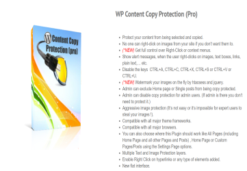 WP Content Copy Protection Pro - WordPress Copy Protection