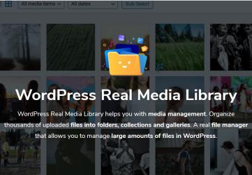 Real Media Library - Advanced WordPress Media Editor