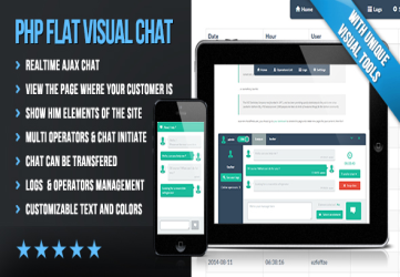 PHP Flat Visual Live Chat