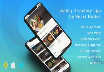 ListApp - Listing Directory mobile app by React Native (Expo version)