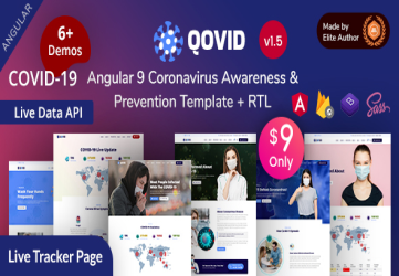 Qovid - Angular 9 COVID-19 Medical Prevention