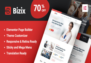 Bizix - Corporate and Business WordPress Theme
