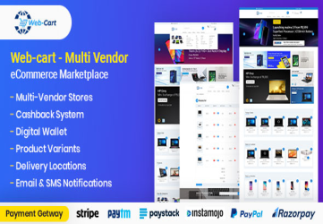 Web-cart - Multi Vendor eCommerce Marketplace