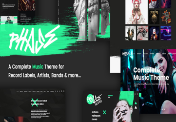 Phase - A Complete Music WordPress Theme for Record Labels and Artists