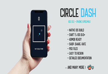 Circle Dash - native iOS 13.0 mobile game app iPhone 11 corona