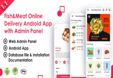 Fish And Meat Online Delivery Android App with Interactive Admin Panel