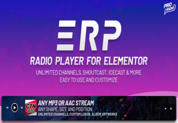 Erplayer - Radio Player for Elementor
