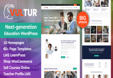 Coach Online Courses & LMS Education WordPress - Vultur