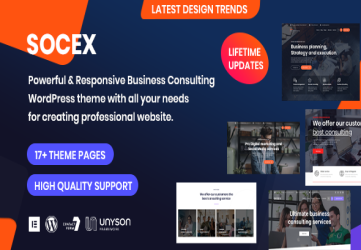 Socex - Consulting & Business WordPress theme