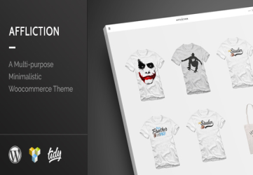 Affliction - Multipurpose Minimal WordPress WooCommerce Theme