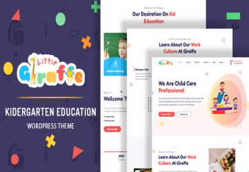 Giraffe - Kindergarten Education WordPress Theme