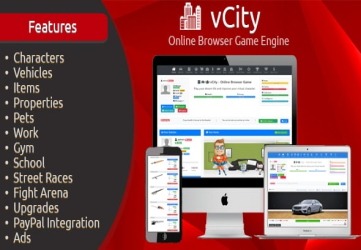 vCity - Online Browser Game Platform