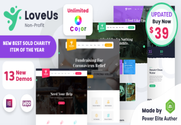 Loveus - NonProfit Charity WordPress Theme