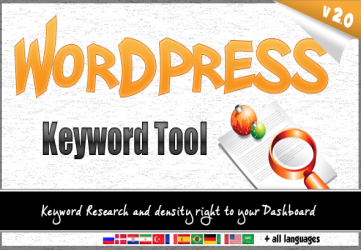 Wordpress Keyword Tool Plugin