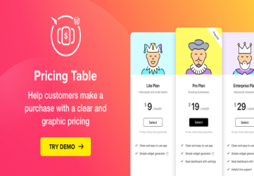 WordPress Pricing Table Plugin