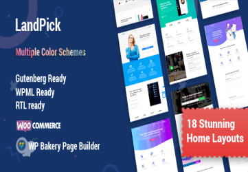Landpick - Multipurpose Landing Pages WordPress Theme