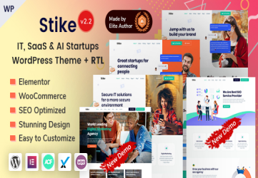 Stike - IT Startups WordPress Theme