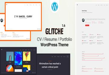 Glitche - CV/Resume Theme