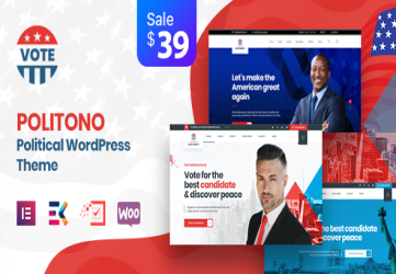 Politono - Political Election Campaign WordPress Theme