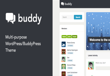 Buddy: Simple WordPress & BuddyPress Theme