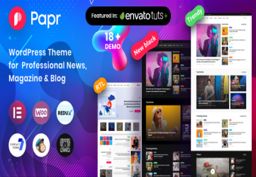 News Magazine Papr - News Magazine WordPress Theme