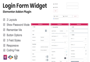Login Form Widget Elementor Addon Plugin